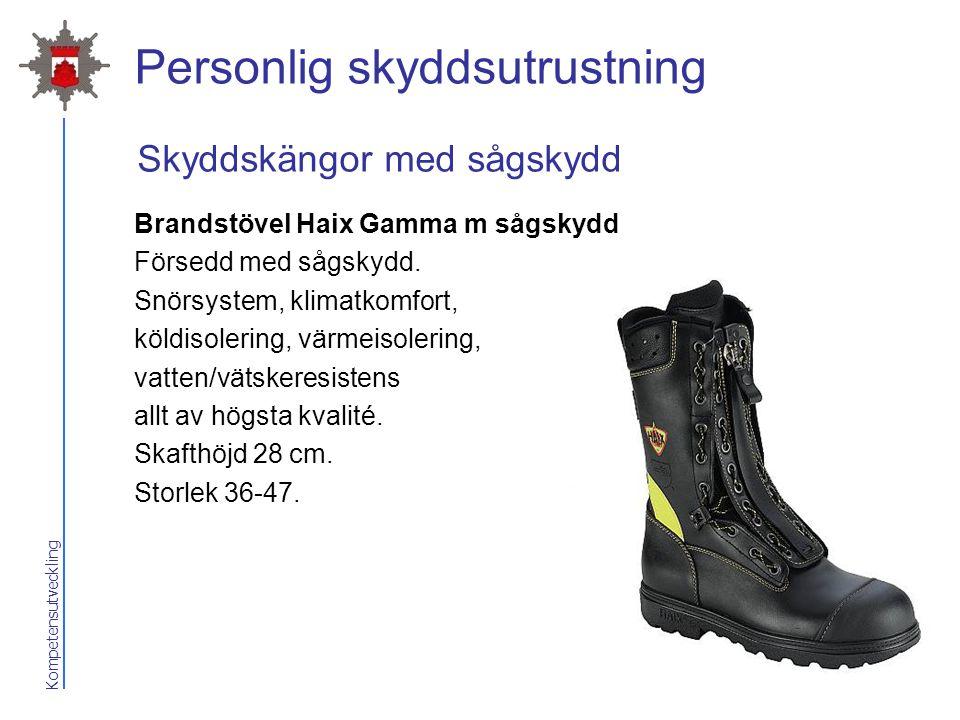 Kompetensutveckling Personlig skyddsutrustning Brandstövel Haix Gamma m sågskydd Försedd med sågskydd. Snörsystem, klimatkomfort, köldisolering, värme
