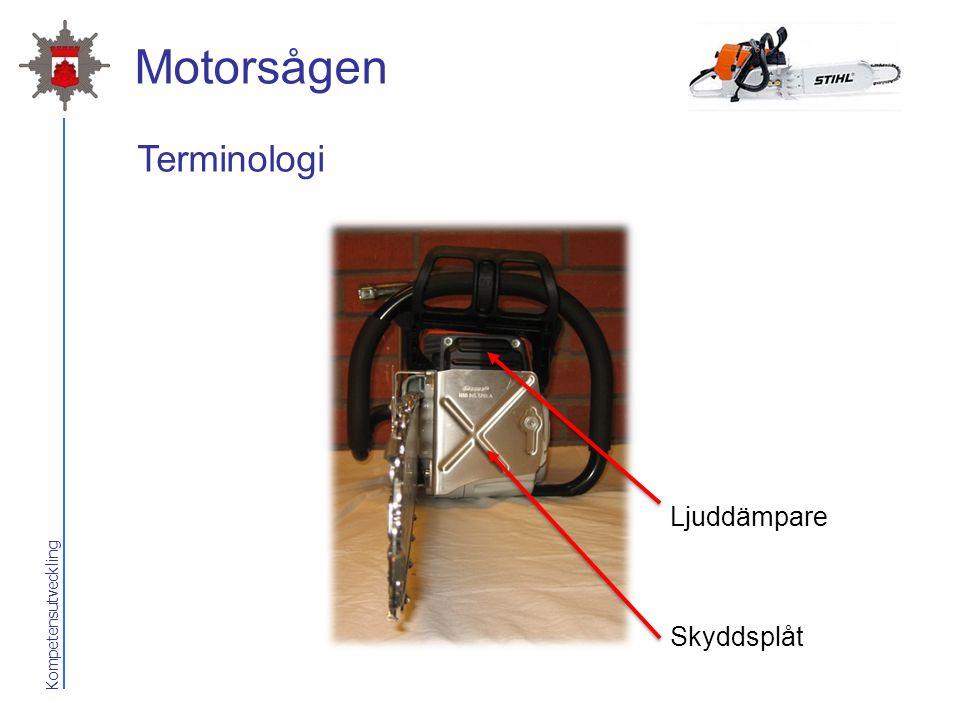 Kompetensutveckling Motorsågen Skyddsplåt Ljuddämpare Terminologi