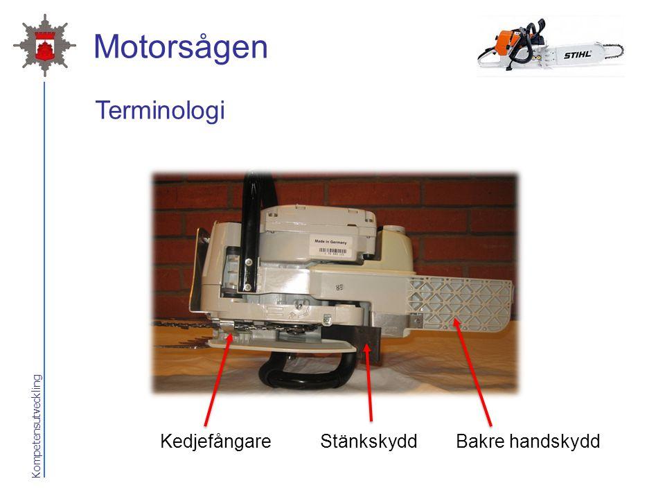 Kompetensutveckling Motorsågen Bakre handskyddKedjefångareStänkskydd Terminologi