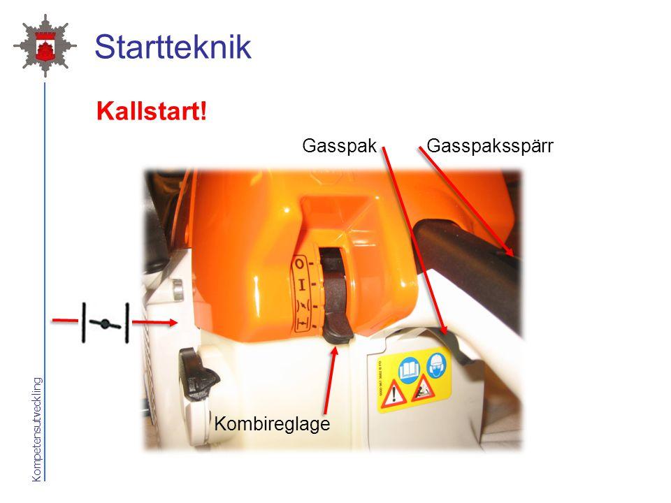 Kompetensutveckling Startteknik Kallstart! GasspakGasspaksspärr Kombireglage