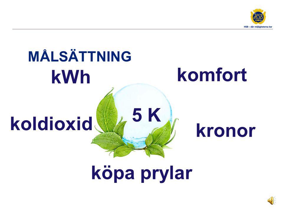 MÅLSÄTTNING kWh kronor komfort köpa prylar koldioxid 5 K