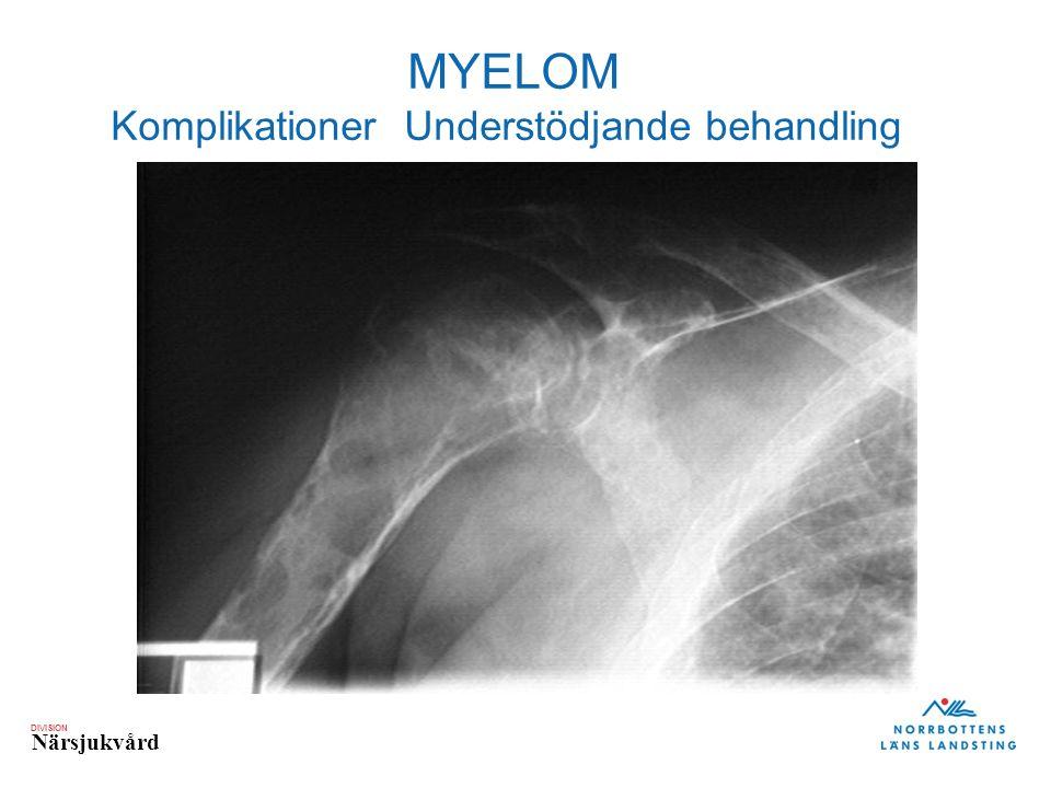 DIVISION Närsjukvård MYELOM Komplikationer Understödjande behandling