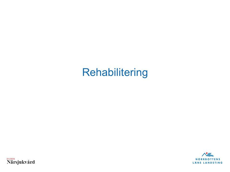 DIVISION Närsjukvård Rehabilitering