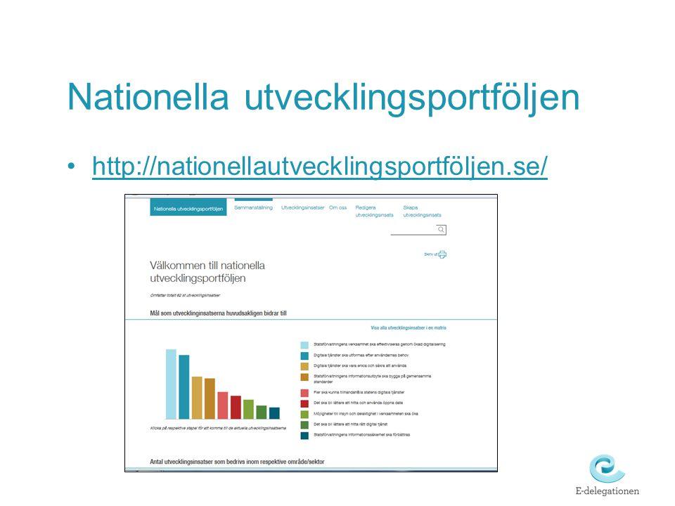 Nationella utvecklingsportföljen http://nationellautvecklingsportföljen.se/