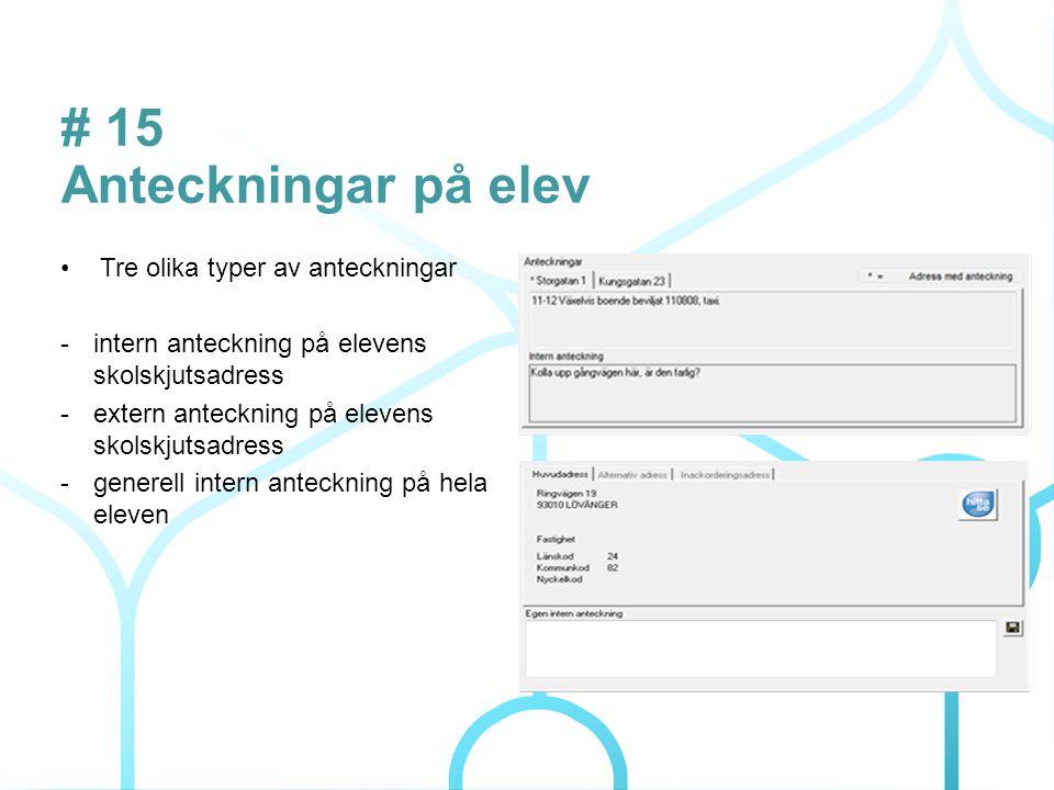 # 4 Förbättringar i Elevkortet En dialog med val av information till Elevkortet.