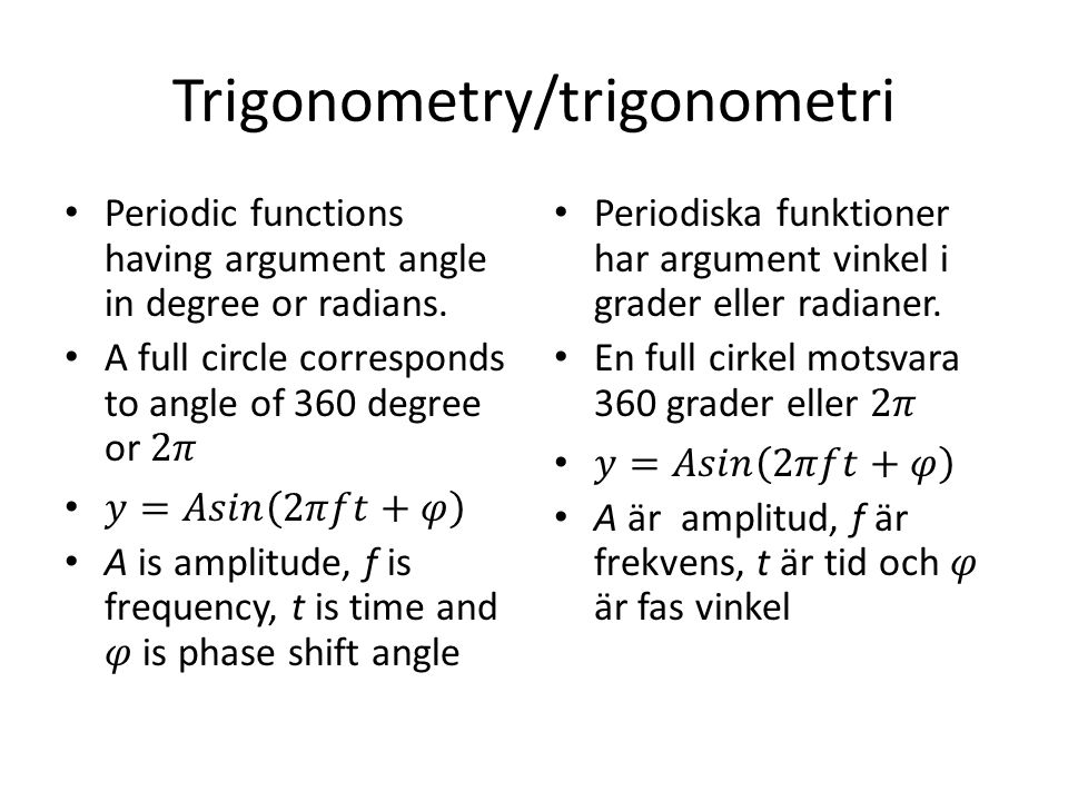 Trigonometry/trigonometri