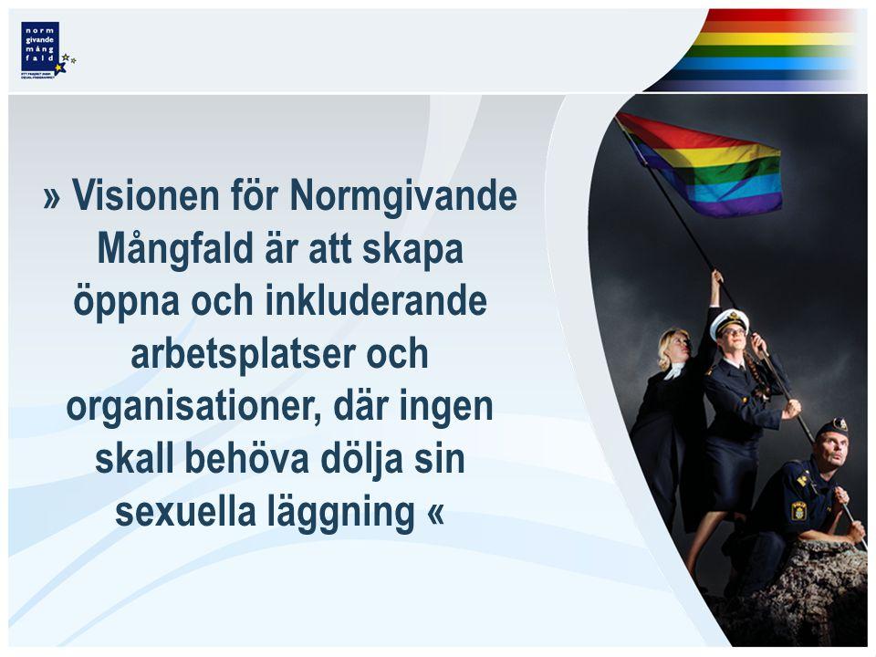 » Visionen för Normgivande Mångfald är att skapa öppna och inkluderande arbetsplatser och organisationer, där ingen skall behöva dölja sin sexuella läggning «
