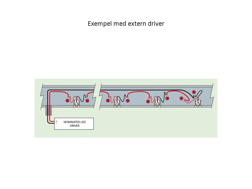 Exempel med extern driver
