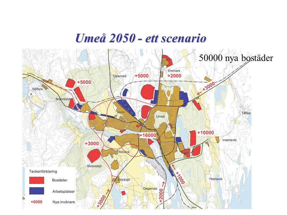 Umeå 2050 - ett scenario 50000 nya bostäder