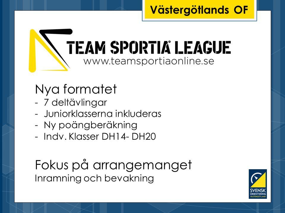 Nya formatet -7 deltävlingar -Juniorklasserna inkluderas -Ny poängberäkning -Indv.