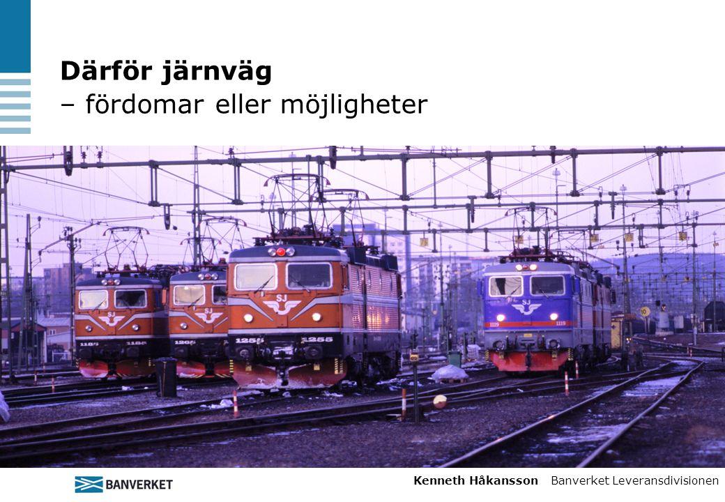 Därför järnväg – fördomar eller möjligheter Kenneth Håkansson Banverket Leveransdivisionen