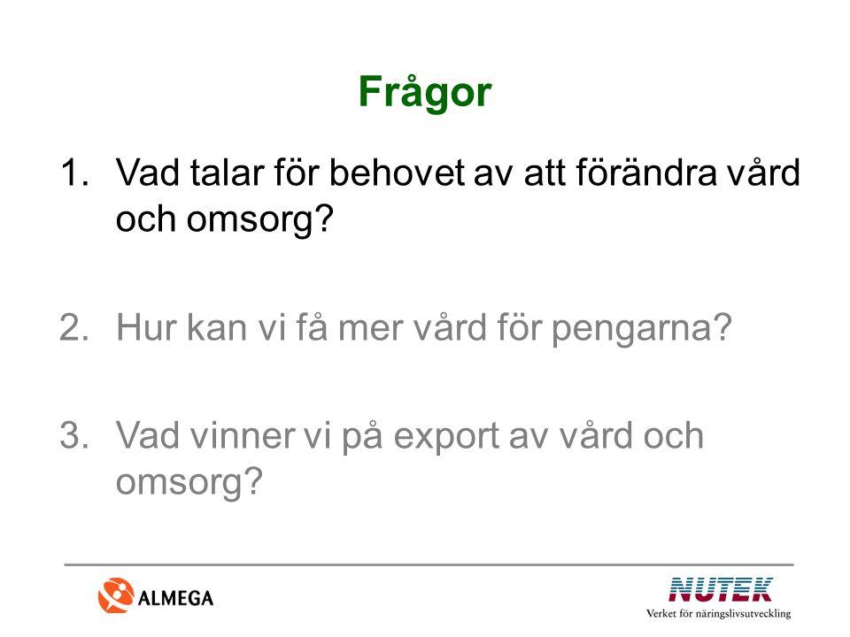 1.Andra tjänstebranscher har visat att det har gått att nå språng i utvecklingen 2.Det finns en potential som inte utnyttjas fullt ut 3. Tron på systemet är inte tillräckligt – viktigt att leda, organisera och motivera 4.Myten om den svenska sjukvårdens förträfflighet (tillgänglighet?) Skäl till att förändra sjukvården (1)