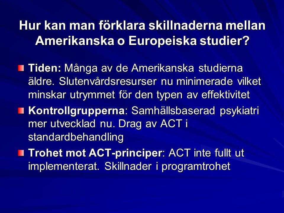 Hur kan man förklara skillnaderna mellan Amerikanska o Europeiska studier.