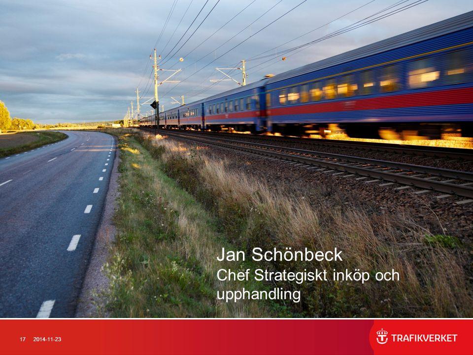 172014-11-23 Jan Schönbeck Chef Strategiskt inköp och upphandling