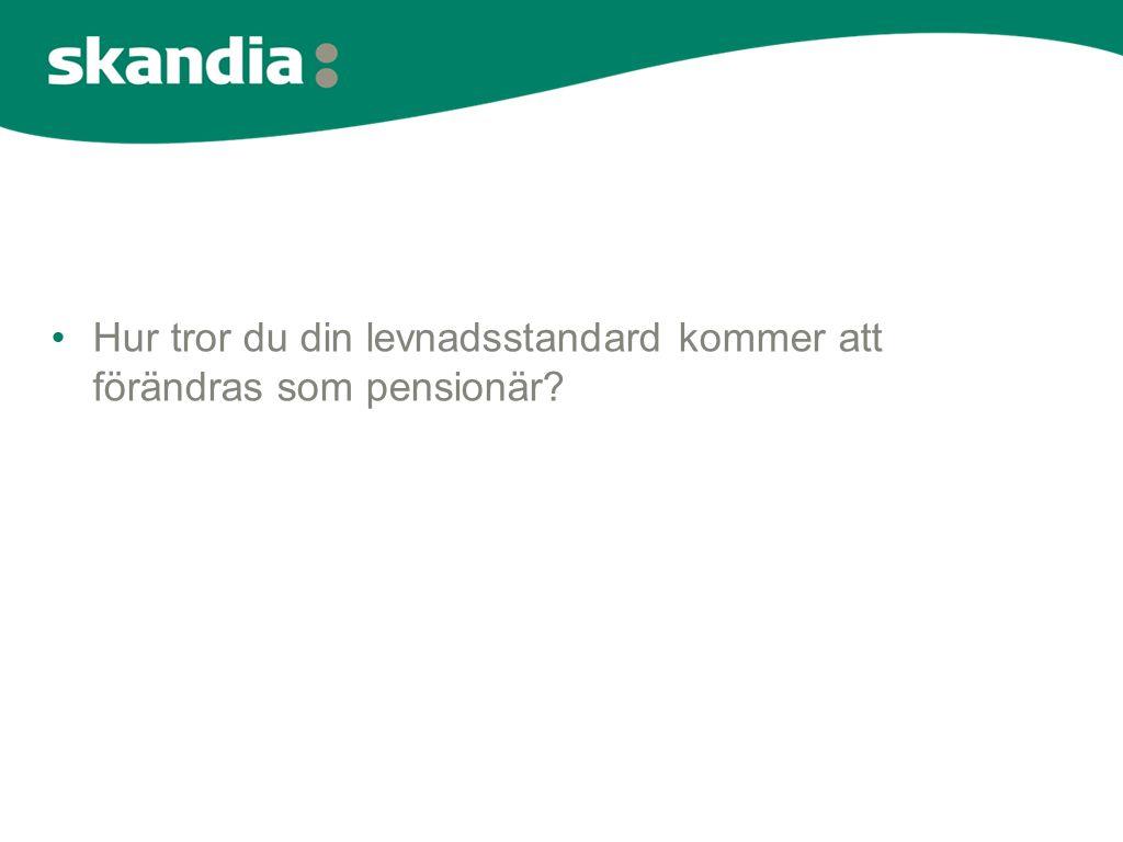 Hur tror du din levnadsstandard kommer att förändras som pensionär