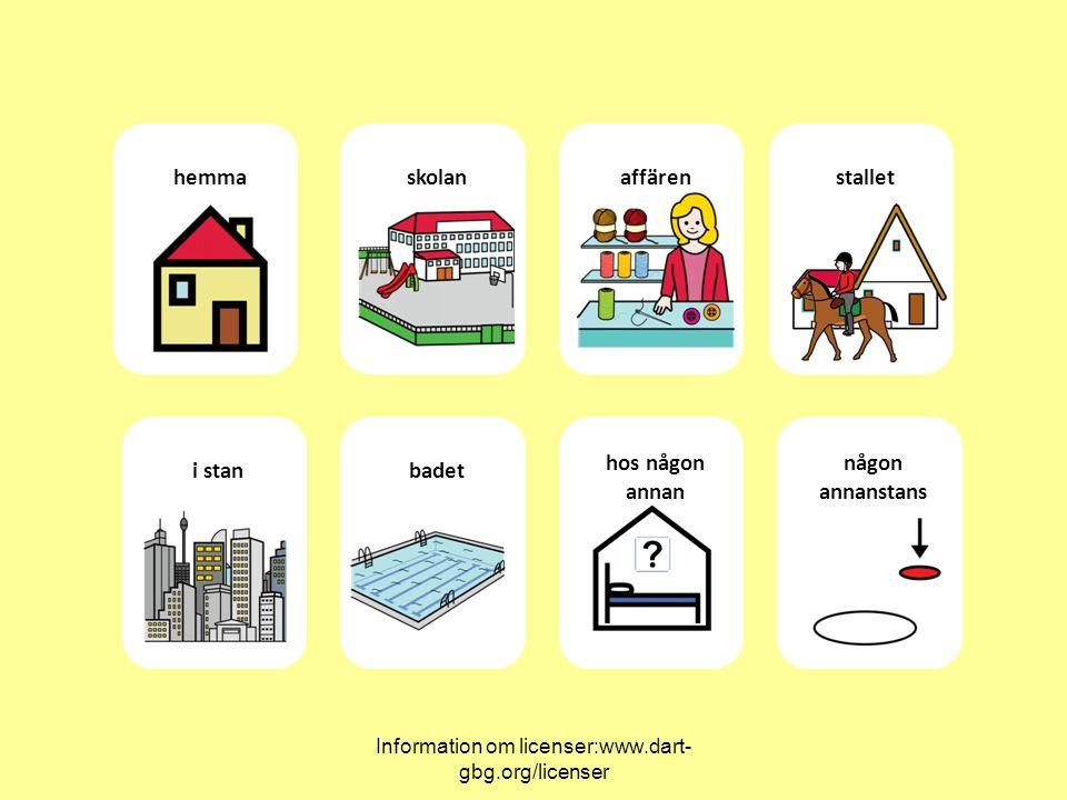 Information om licenser:www.dart- gbg.org/licenser hemmaskolanaffärenstallet i stanbadet hos någon annan någon annanstans