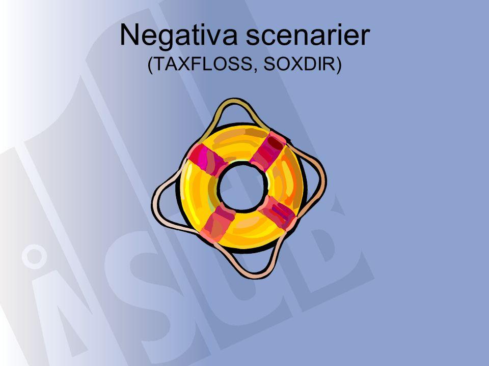 Negativa scenarier (TAXFLOSS, SOXDIR)