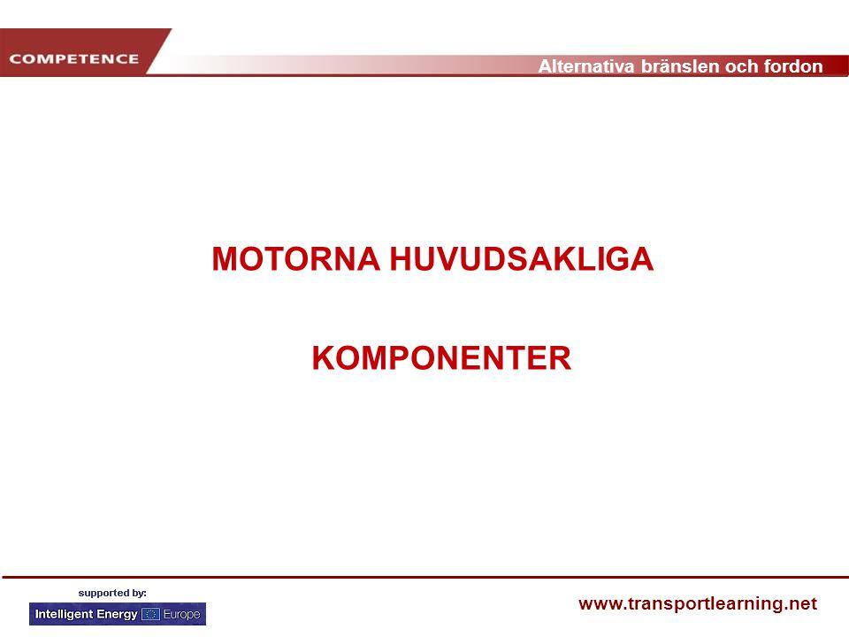 Alternativa bränslen och fordon www.transportlearning.net MOTORNA HUVUDSAKLIGA KOMPONENTER