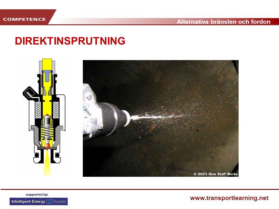 Alternativa bränslen och fordon www.transportlearning.net DIREKTINSPRUTNING