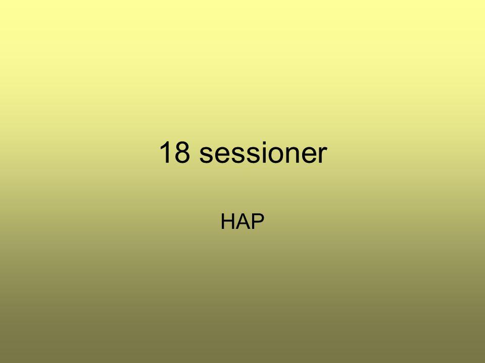 18 sessioner HAP