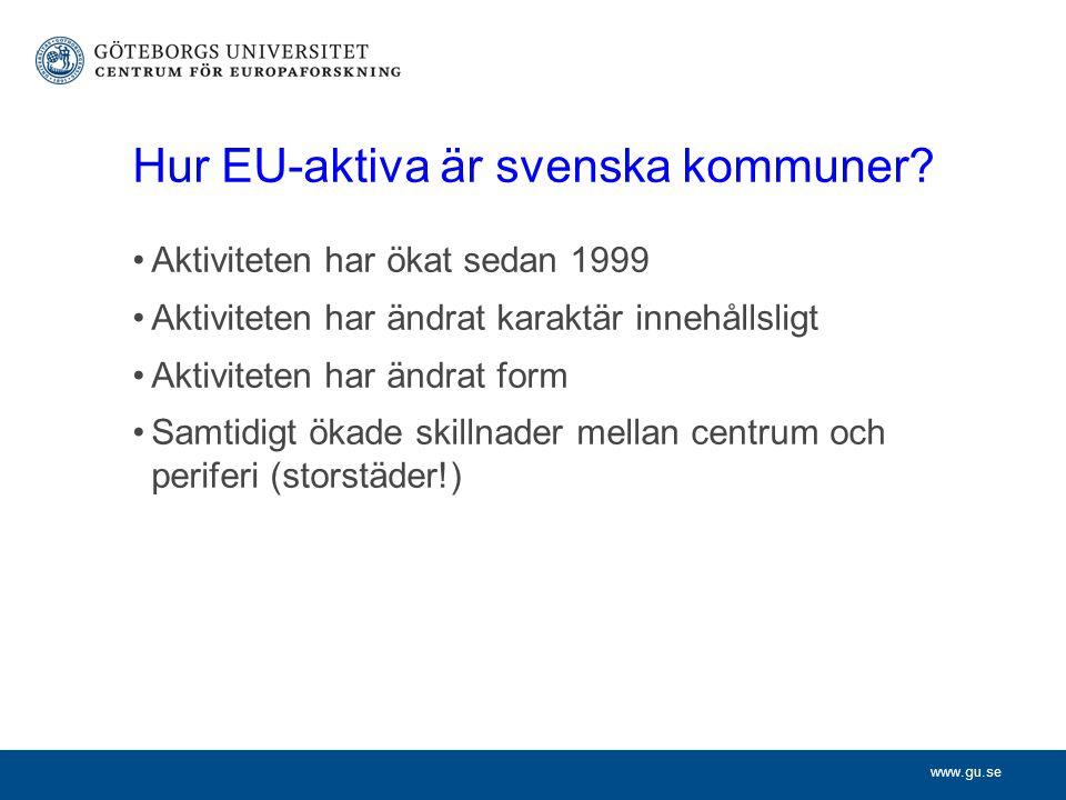 www.gu.se Hur EU-aktiva är svenska kommuner.