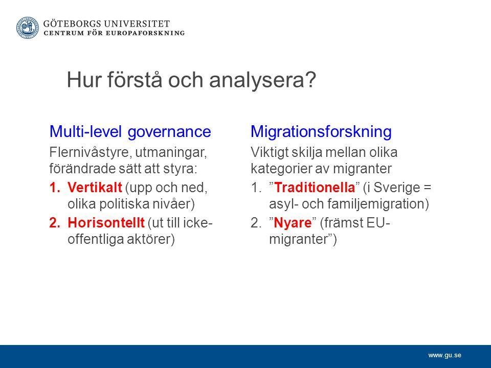 www.gu.se Hur förstå och analysera.