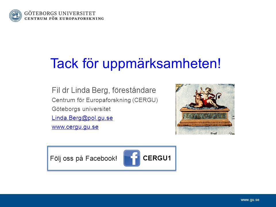 www.gu.se Tack för uppmärksamheten.