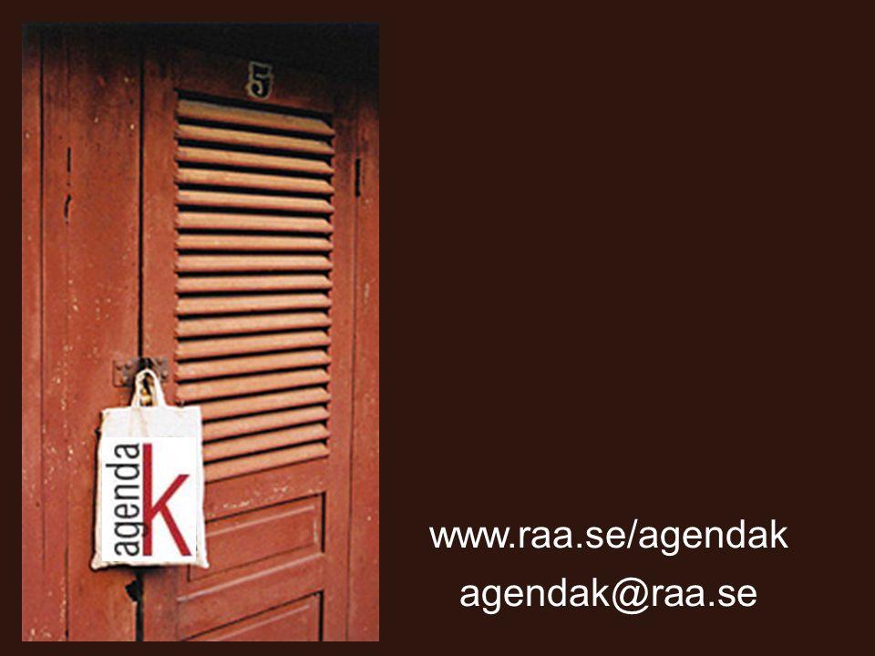 agendak@raa.se www.raa.se/agendak