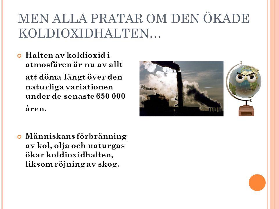 1850190019502000 14.5 13.5 14.0 IPCC 2007 ÅRSMEDELTEMPERATUR PÅ JORDEN (°C)