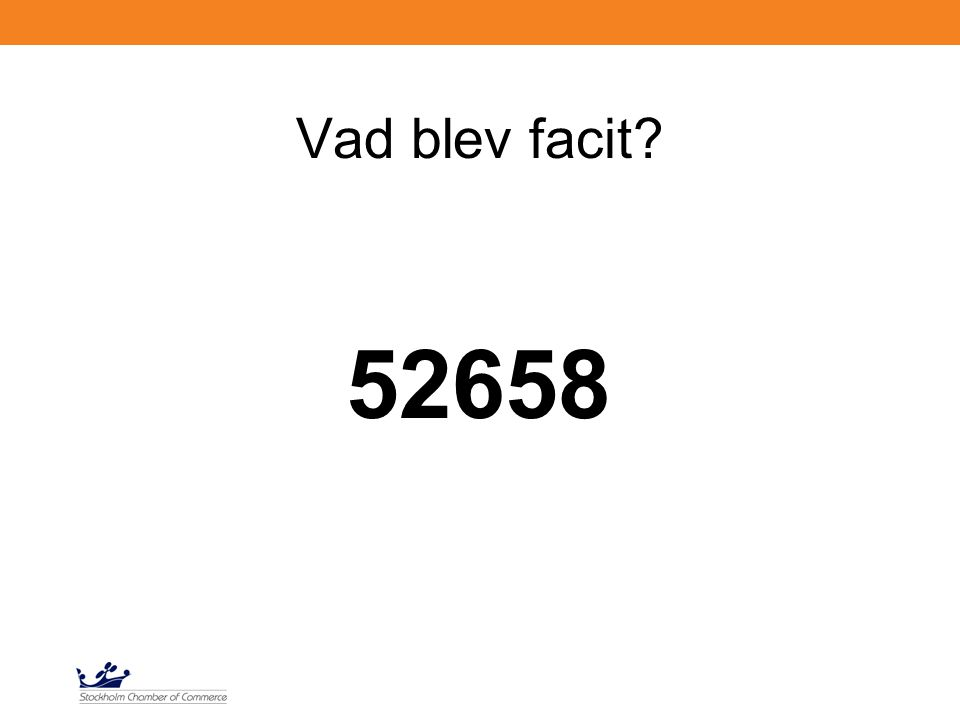 Vad blev facit 52658