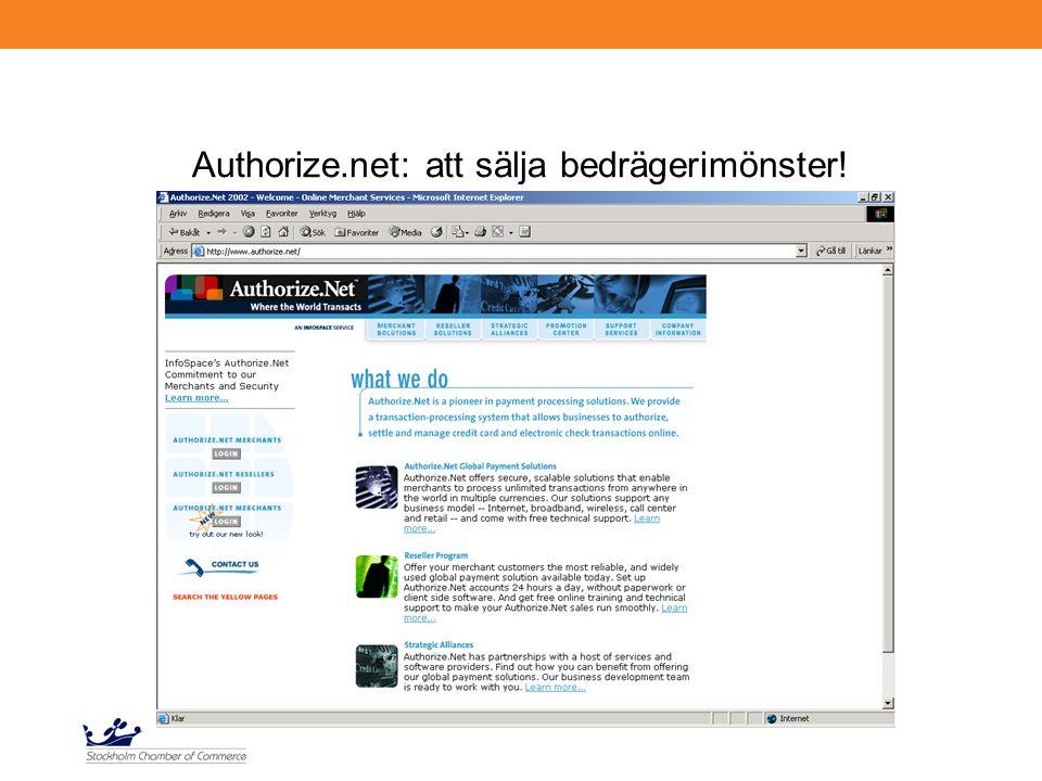 Authorize.net: att sälja bedrägerimönster!