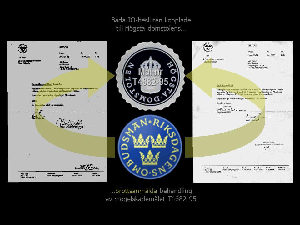 …brottsanmälda behandling av mögelskademålet T4882-95 Båda JO-besluten kopplade till Högsta domstolens…