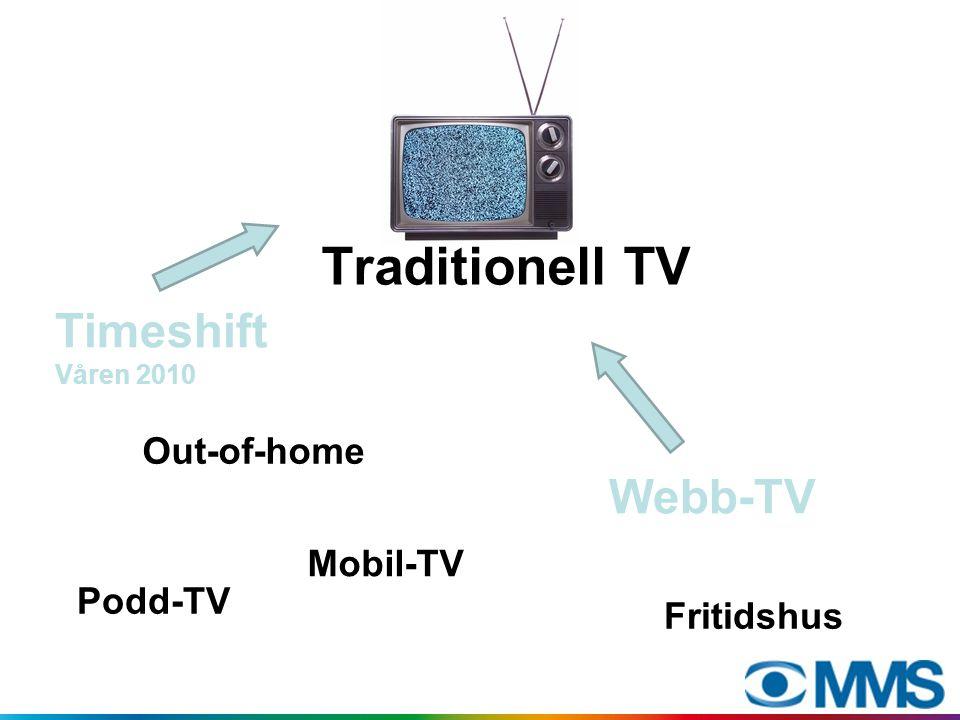 Webb-TV-mätningar idag Flertal mätbolag används, ofta av samma aktör; inga gemensamma mätningar Inga publika siffror / transparens Finns ingen oberoende part som garanterar kvalitet och korrekthet i mätningarna