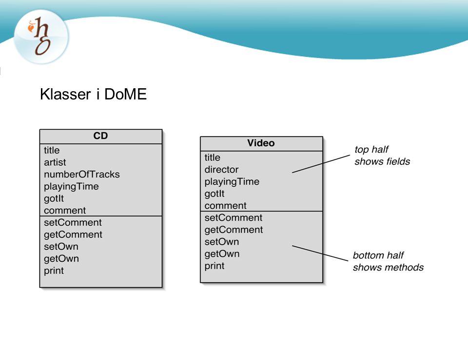 Objektmodell för DoME