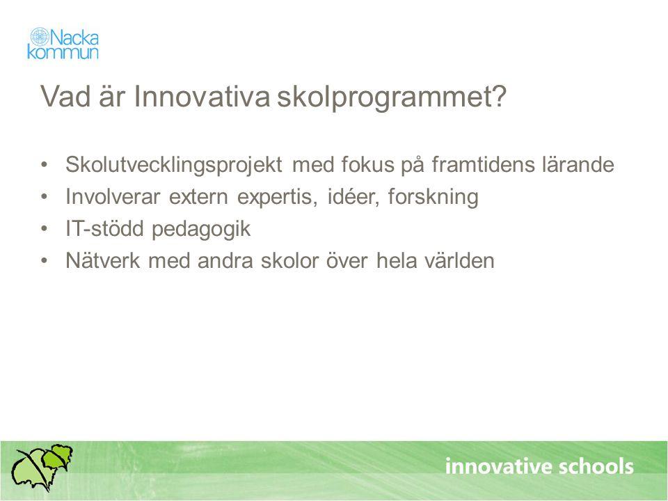 Vad är Innovativa skolprogrammet.
