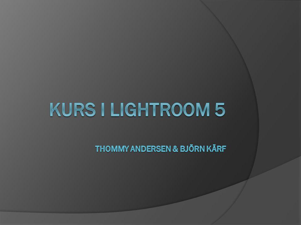 Kursinformation 1.Överblick av Lightroom & Import 2.
