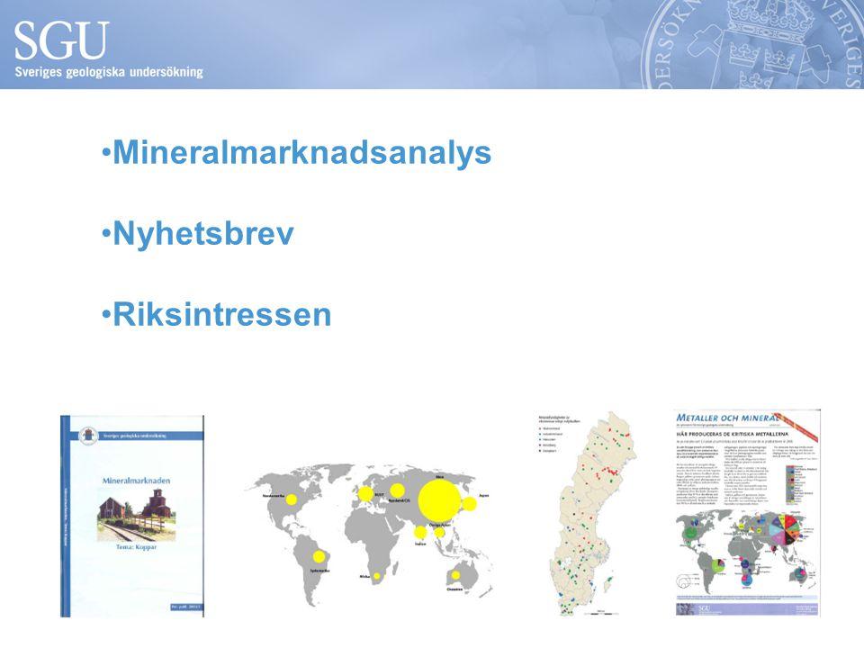 Mineralmarknadsanalys Nyhetsbrev Riksintressen