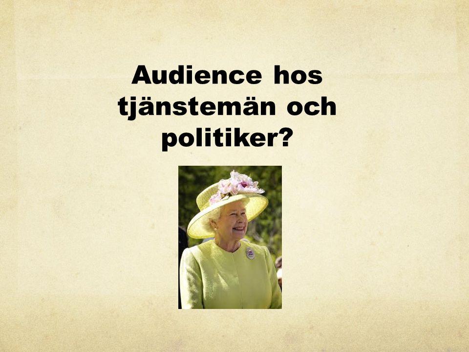 Audience hos tjänstemän och politiker