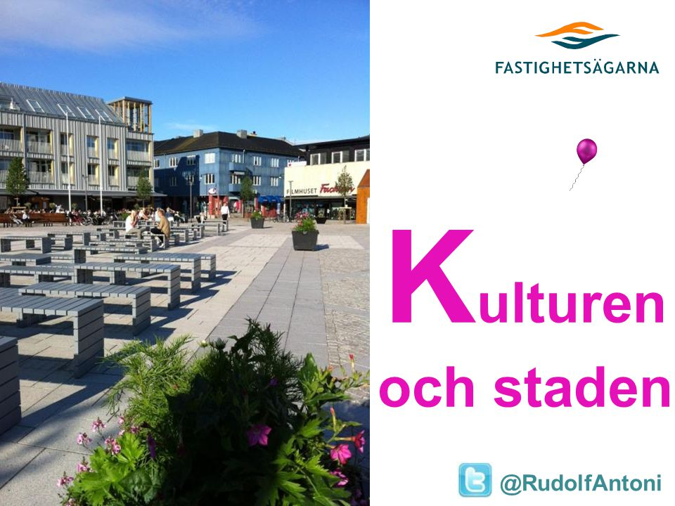 Antoni Research K ulturen och staden @RudolfAntoni