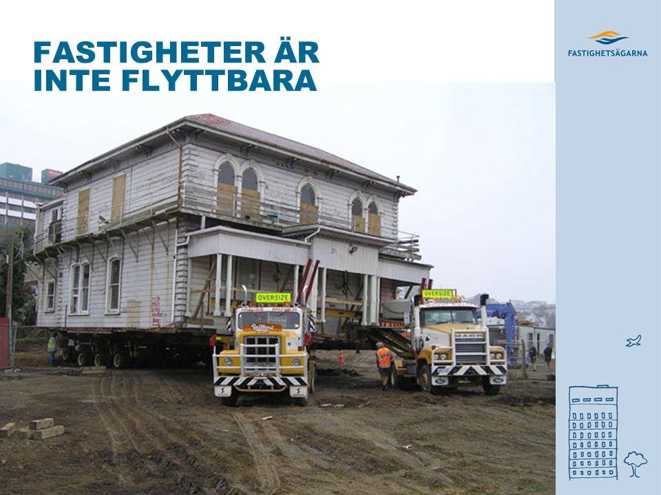 FASTIGHETER ÄR INTE FLYTTBARA