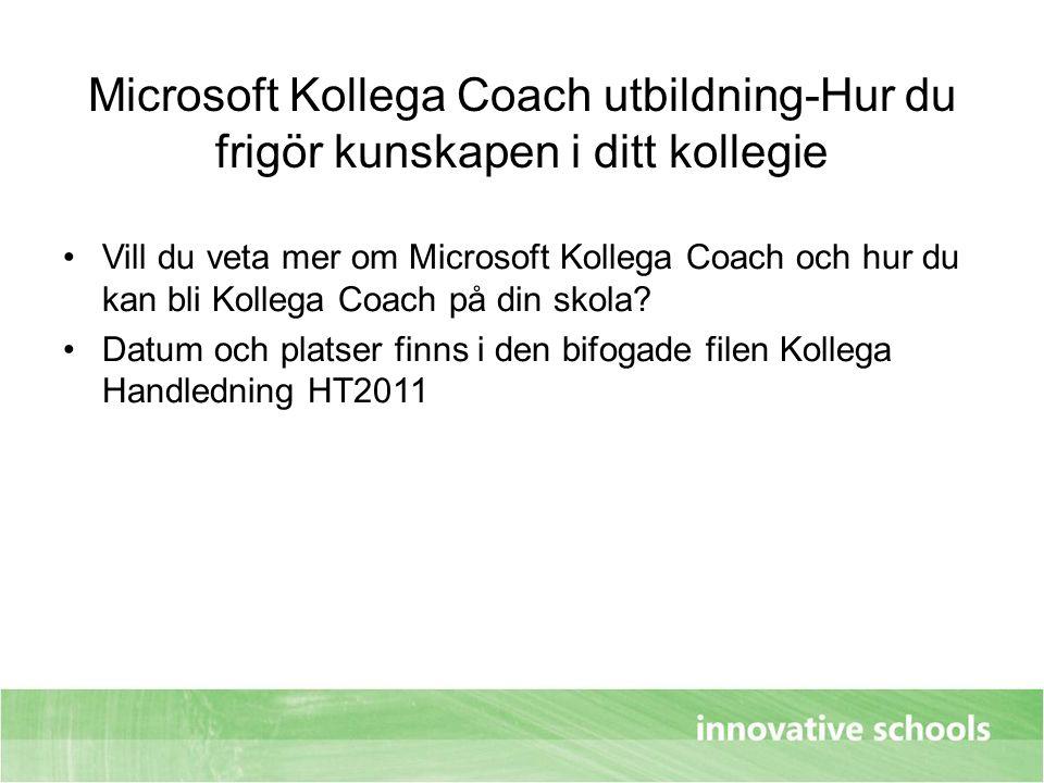 Microsoft Kollega Coach utbildning-Hur du frigör kunskapen i ditt kollegie Vill du veta mer om Microsoft Kollega Coach och hur du kan bli Kollega Coac