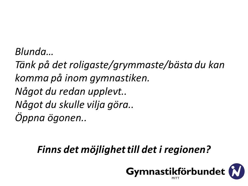 Blunda… Tänk på det roligaste/grymmaste/bästa du kan komma på inom gymnastiken.
