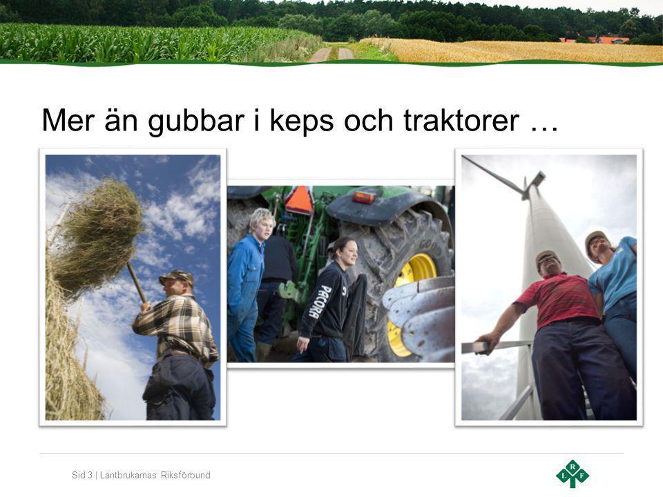 Sid 3 | Lantbrukarnas Riksförbund Mer än gubbar i keps och traktorer …