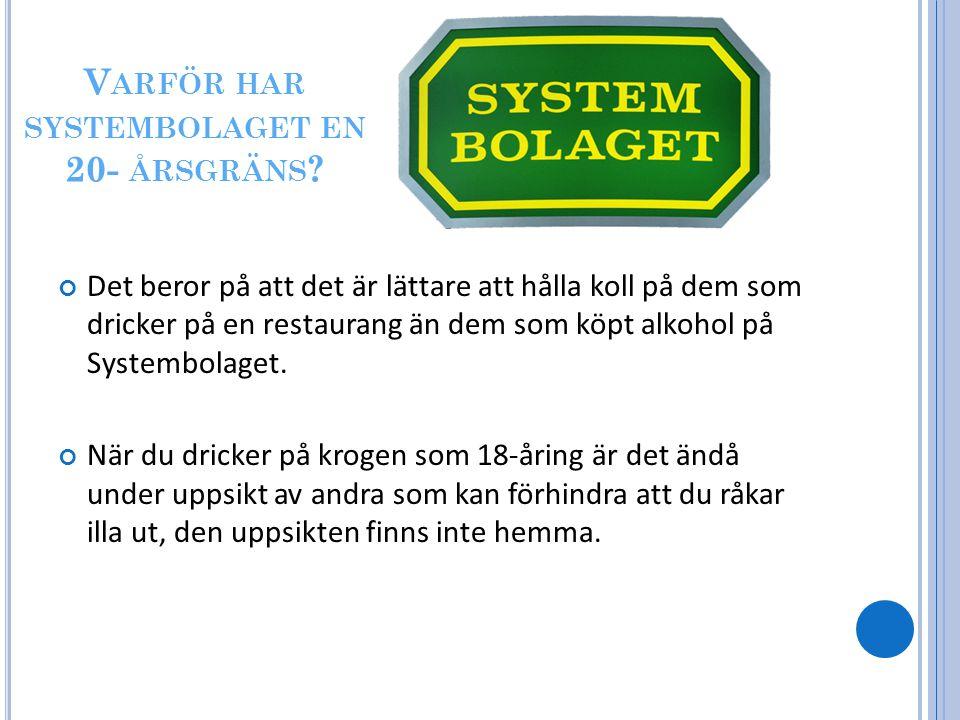 V ARFÖR HAR SYSTEMBOLAGET EN 20- ÅRSGRÄNS .