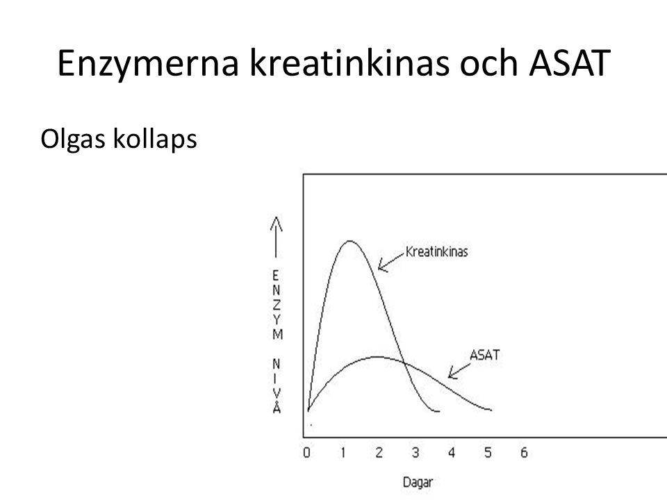 Enzymerna kreatinkinas och ASAT Olgas kollaps