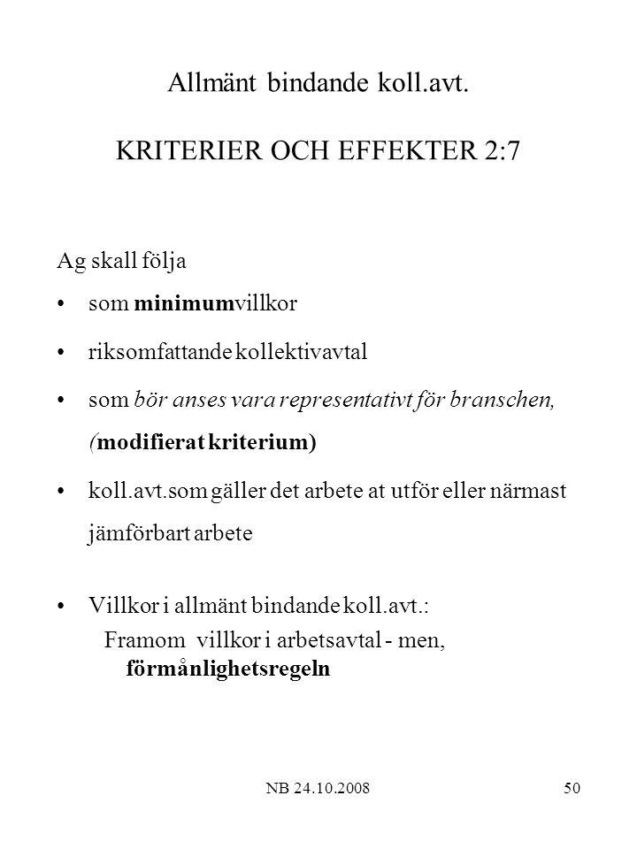 NB 24.10.200850 Allmänt bindande koll.avt.