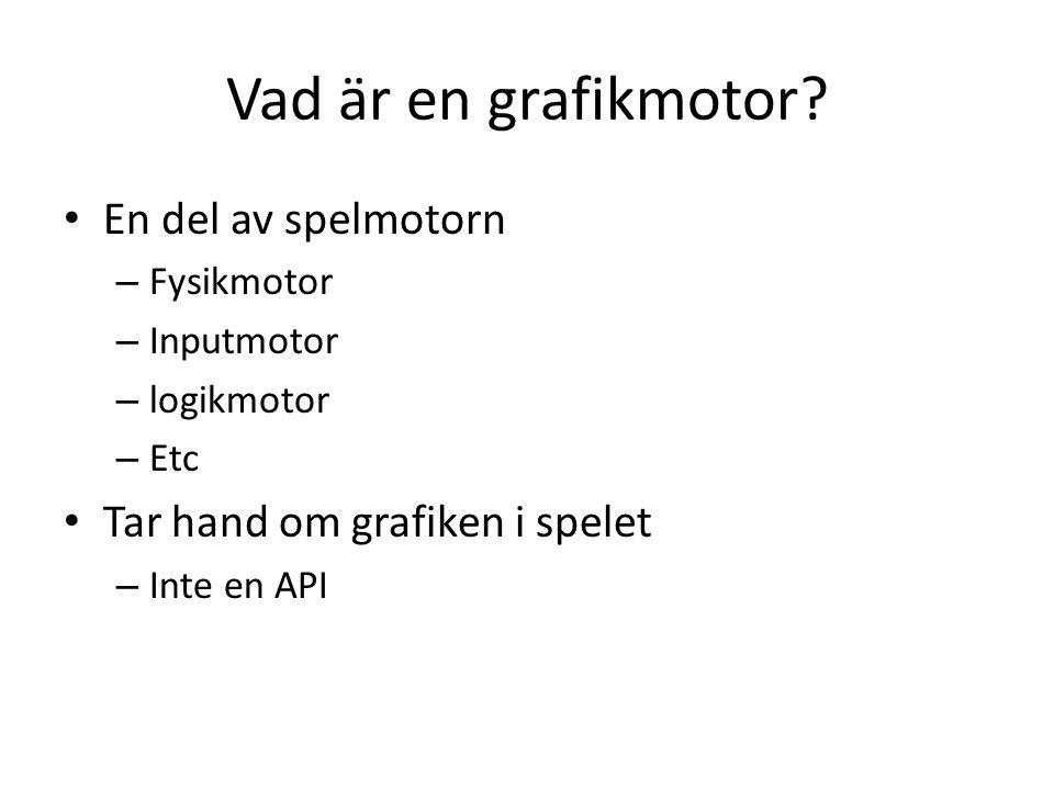 Vad är en grafikmotor.