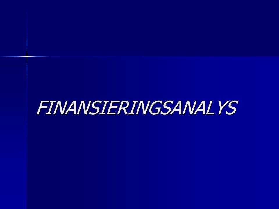 Skyldighet att upprätta finansieringsanalys Den bokföringsskyldige skall inkludera finansieringsanalys i sitt bokslut om den är Den bokföringsskyldige skall inkludera finansieringsanalys i sitt bokslut om den är 1)ett publikt aktiebolag eller 2)ett privat aktiebolag eller ett andelslag och minst två av gränser omsättning eller motsvarande avkastning 7 300 000 euro omsättning eller motsvarande avkastning 7 300 000 euro balansomslutning 3 650 000 euro balansomslutning 3 650 000 euro genomsnittligt antal anställda 50 personer.