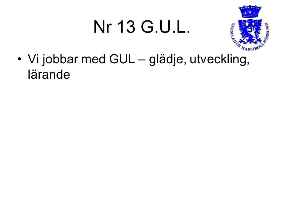 Nr 13 G.U.L. Vi jobbar med GUL – glädje, utveckling, lärande