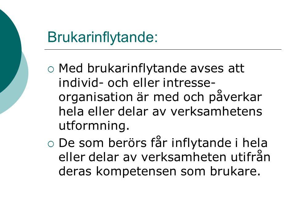 Centrala faktorer utifrån forskning inom Norskt psykiskt hälsoarbete  Brukarperspektivet måste vara i centrum.